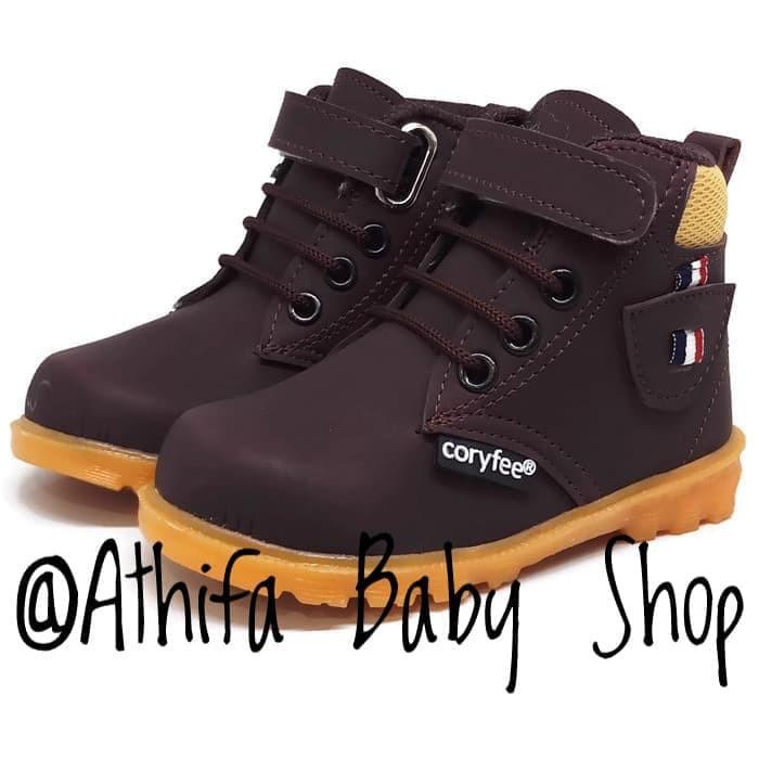 Sepatu Boots Anak Laki Laki Perempuan Coryfee Usia 1 2 3 Tahun