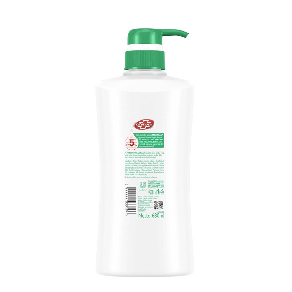Lifebuoy Shampoo Strong And Shiny 680 Ml - Perawatan Rambut Berkilau-2