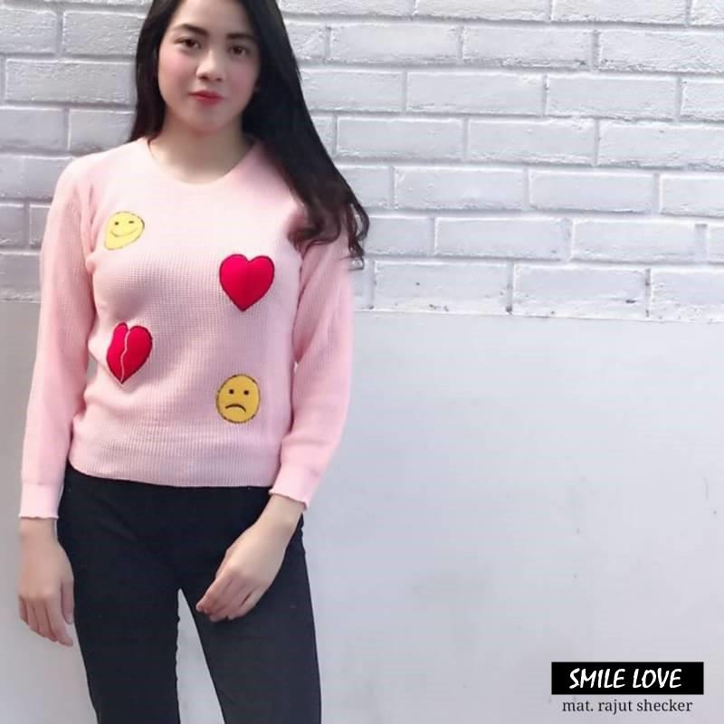 SMILE LOVE grosir jaket sweater baju dress blouse hijab kekinian cewek  perempuan murah  8d4a247761