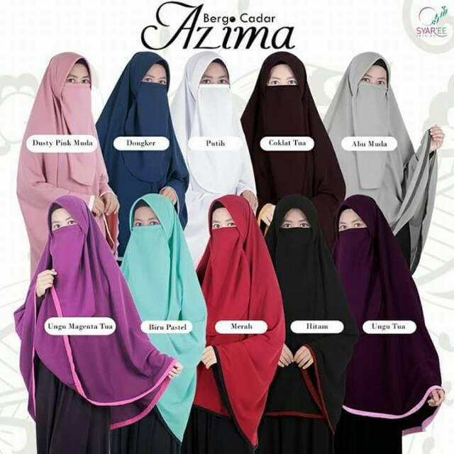 Gamis Syari Bercadar Gamis Jilbab Free Niqab Cadar Shopee