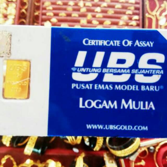 Logam Mulia 24k Ubs 1 Gram 100 Asli Shopee Indonesia