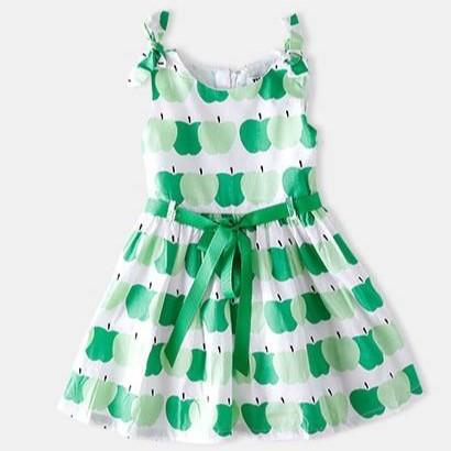 dress fashion import kutung apel hijau lucu