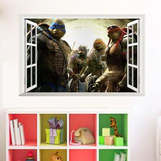 ... Stiker Dinding dengan Bahan Mudah Dilepas Gambar Mutan Ninja 3D untuk Dekorasi Rumah. suka: 2