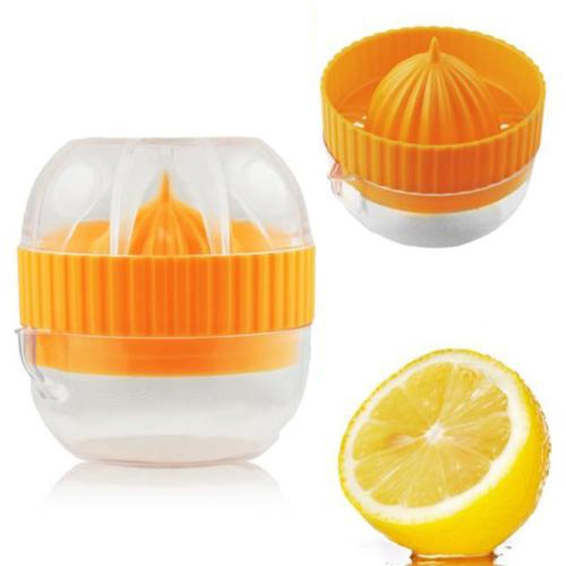 Mini Portable Manual Juicer Multi Citrus Orange Lemon Lime Juice Squeezer Fruit Juice Maker DIY Citrus Press Juicer with Strainer Bowl for Travel Party Home Kitchen Random Color