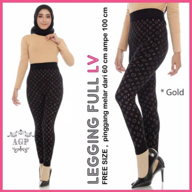 Legging Lv Legging Motif Legging Wanita Leging Panjang Leging Import Legging Dewasa Shopee Indonesia