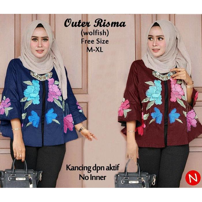 Dijual outer cape blazer cape cardigan wanita baju murah Berkualitas ... a7c2273a75