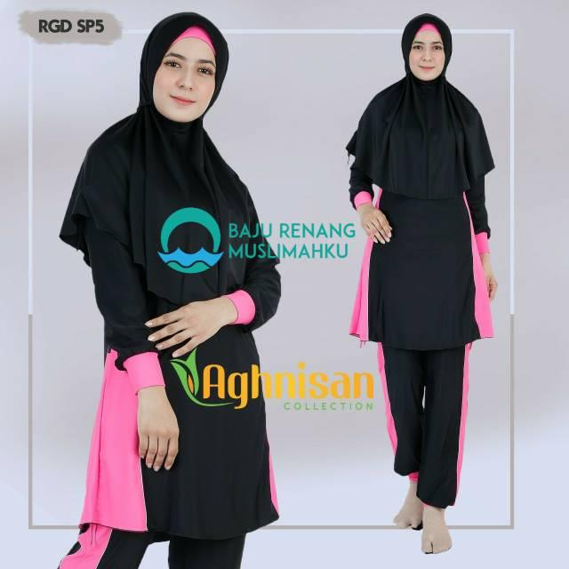 Baju Renang Muslimah Syari Dewasa Wanita Aghnisan AGH 348 ST | Shopee Indonesia