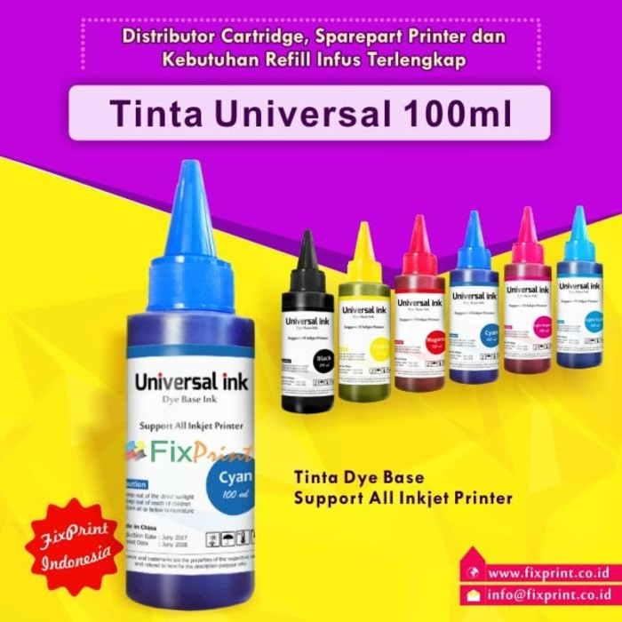 Tinta Refill Galon Universal Cyan 20 Liter, Tinta Printer Dye Base | Shopee Indonesia
