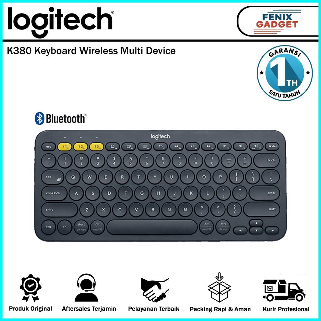 Logitech K380 Keyboard Wireless Multi Device Black Shopee Indonesia