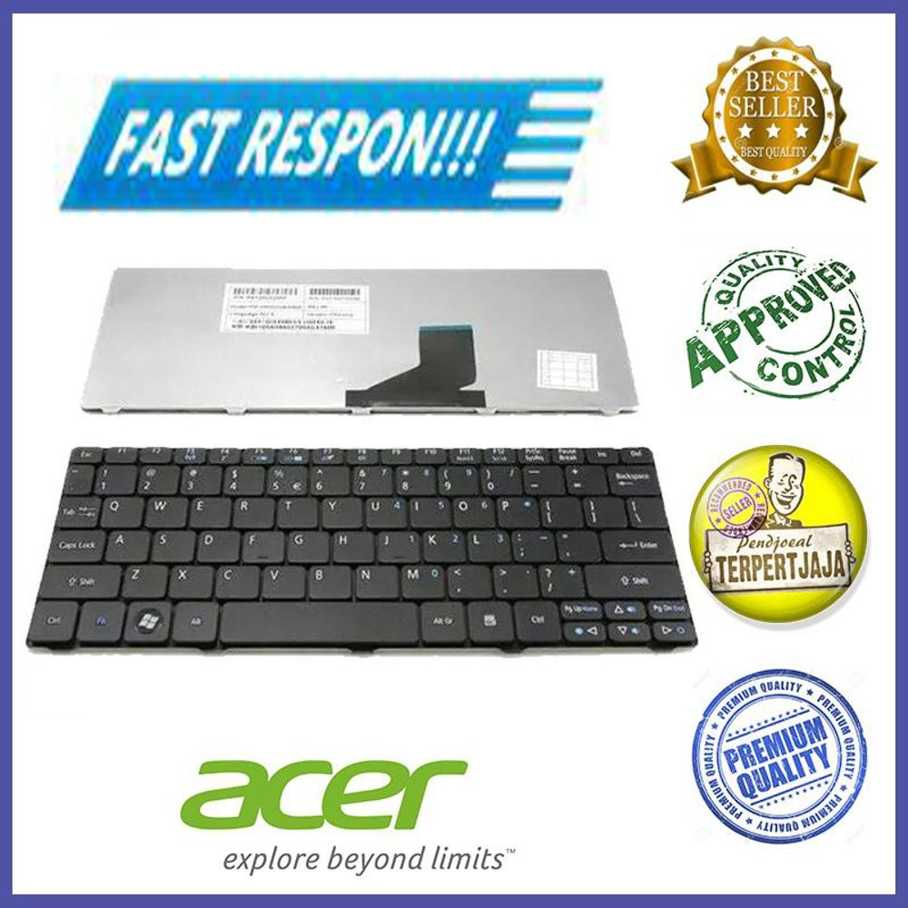 Keyboard Acer Aspire One Ao532h D255 D257 Ao255 Ao257 D260 D270 532 532h Happy Happy2 Nav50 Ao532 Putih Hitam Shopee Indonesia
