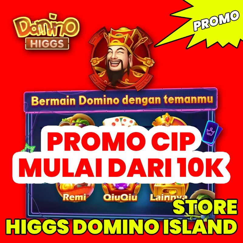 COIN CHIP HIGGS DOMINO ISLAND TERMURAH ECER (Terima Bongkar)