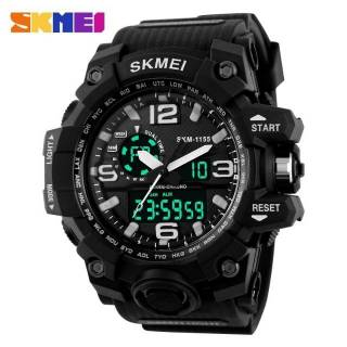 Jam Tangan Pria / SKMEI 1155 / SKMEI ORIGINAL / Anti Air 50M / Dual Time