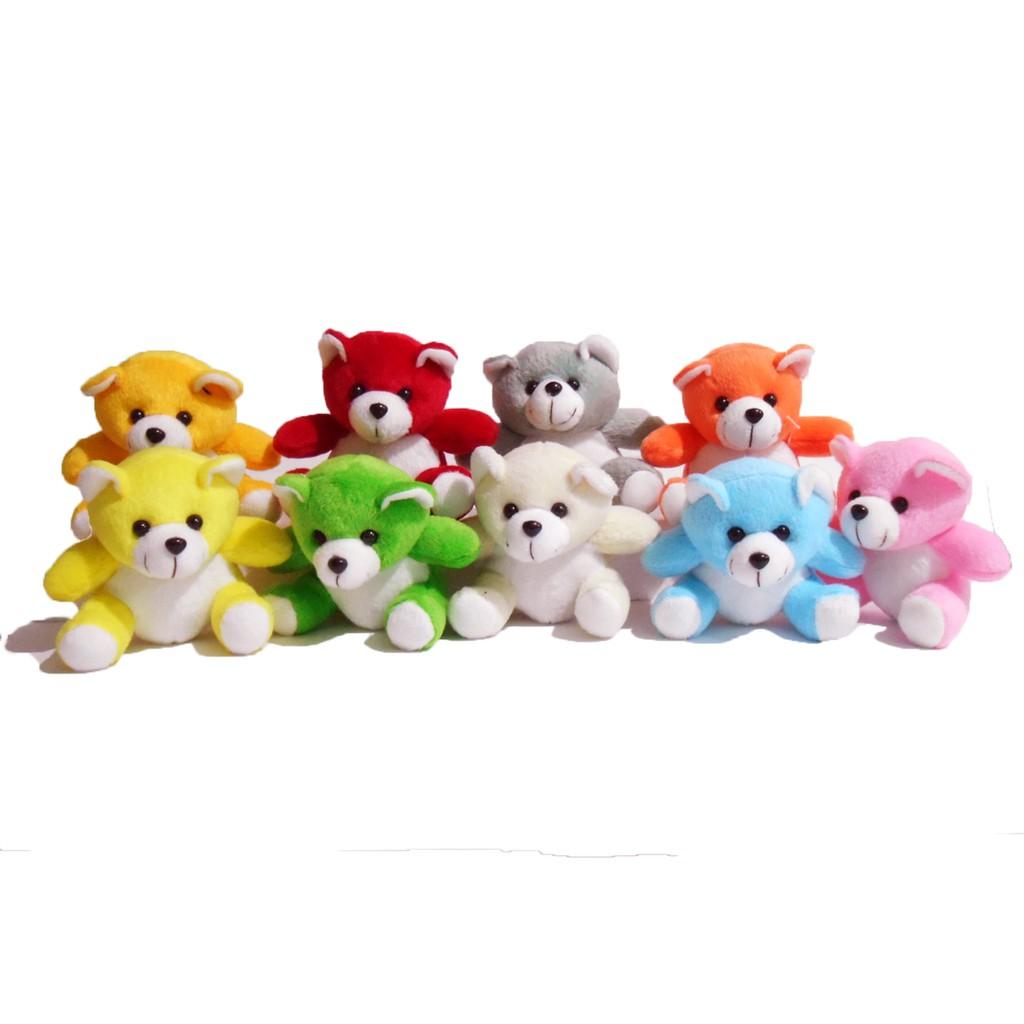 BB Boneka murah Beruang kecil warna warni lucu lembut Panda Teddy bear  Ulang Tahun Bayi Mainan fb8a5bdcb3