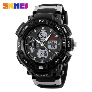Jam Tangan Pria Sport Dual Time Original SKMEI 1211 Anti Air / Water Resist 50M