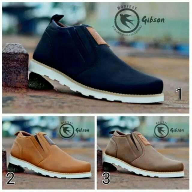 Sepatu boots slop slip on original moofeat kulit pria import kickers murah  gunung 899cafe08e