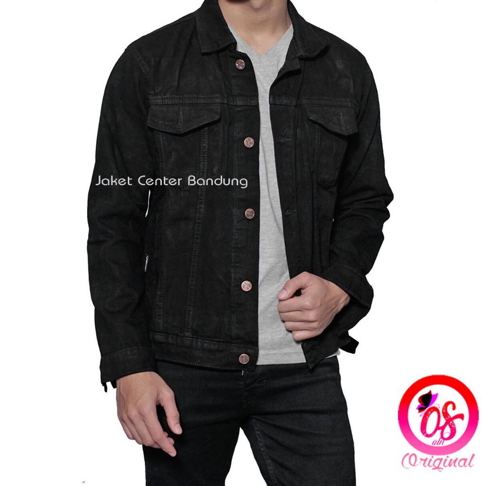 Jaket Jeans Bioblitz Biowash Denim Kerah Pria Grosir Termurah