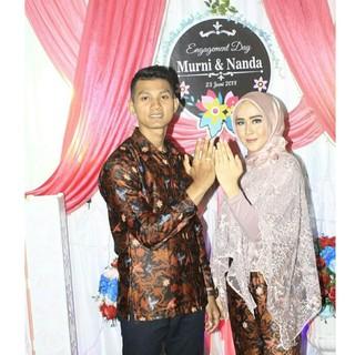 Couple Sarimbit Kebaya Pesta Tunangan Lamaran Cantik Batik Modern
