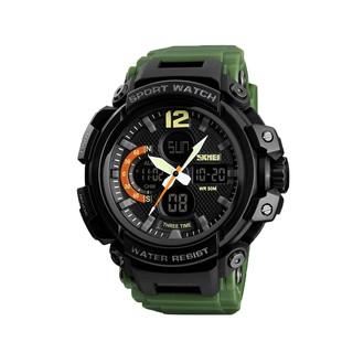 Jam Tangan Pria Digital Analog Skmei 1343 Army Green Water Resistant 30m 1eed98974a