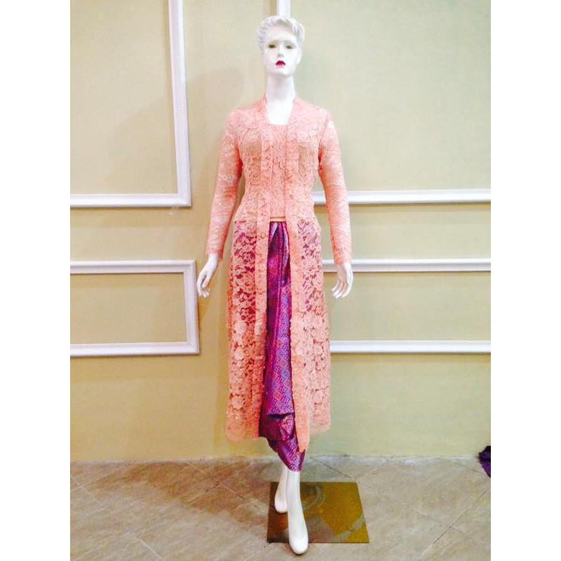 Set Kebaya Model Dress Casual Broklat Mewah Modern Tempel Broklat 3d