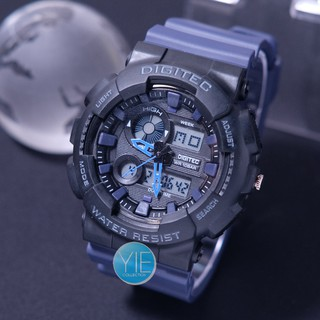 Jam Tangan Pria Sport Army Digitec Dual Time DG 2107 T Anti Air Original Karet Tentara