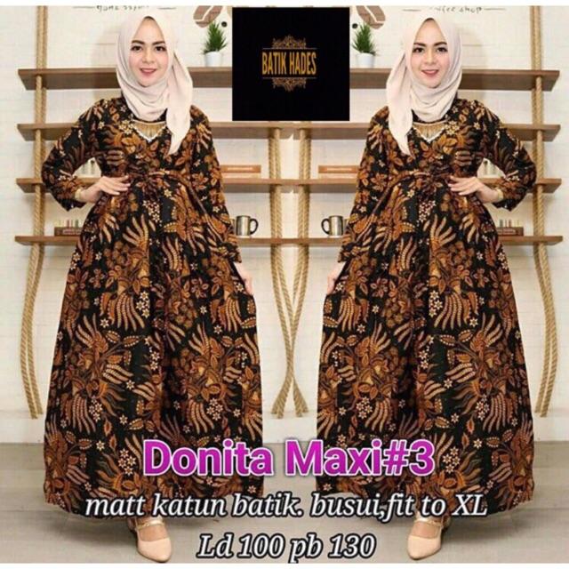 Gamis batik syari modern baju muslim pakaian wanita termurah grosir  longdress maxy 02 aa9f040a04