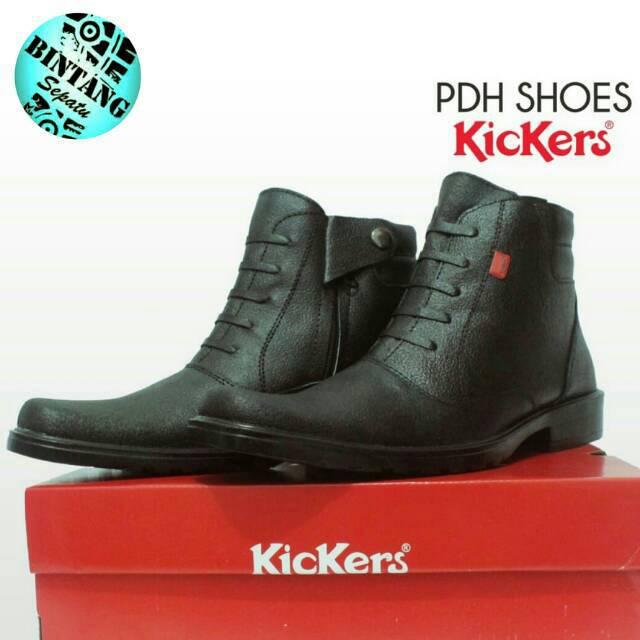 Sepatu kerja kantor pantofel tinggi sleting pdh kulit asli murah shoes pria  cowok dinas resmi pns 379fa7e05f